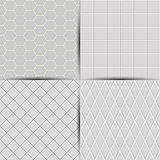 Set of abstract seamless tiles background, vector illustration.