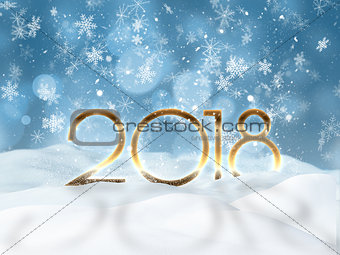 3D Happy New year background