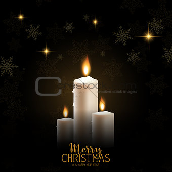 Christmas candle background