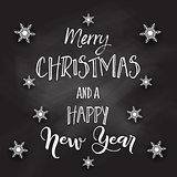 Christmas chalkboard with decorative text