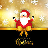 Christmas santa on snowflake background