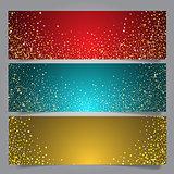 Christmas star banners