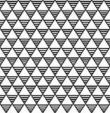 Seamless diamonds and triangles pattern.