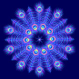 mandala on dark blue background