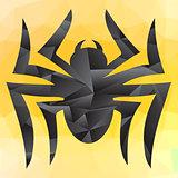 Spider Mosaic Silhouette