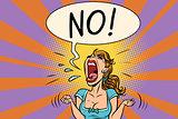 No furious screaming woman