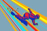 giant slalom snowboard, winter sports