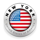 New York USA badge