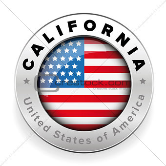 California USA steel button