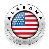 Alabama Usa flag badge button