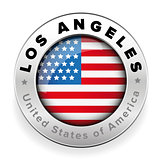 Loas Angeles USA steel button