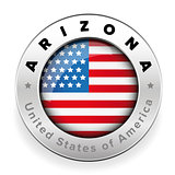 Arizona Usa flag badge button