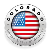 Colorado Usa flag badge button