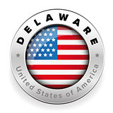 Delaware Usa flag badge button