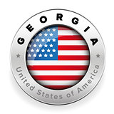 Georgia Usa flag badge button