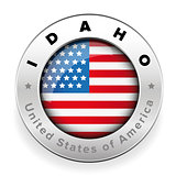 Idaho Usa flag badge button