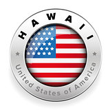 Hawaii Usa flag badge button