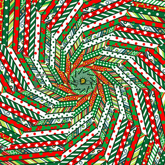 Abstract Christmas mosaic background