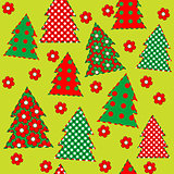Wrapping paper for your Christmas, seamless pattern with flowers