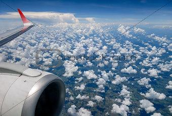 cloudscape sky view