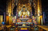 Golden Buddha in Chion-In Temple, Kyoto, Japan