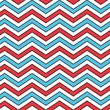 Seamless Chevron Pattern in Blue, Red, and White