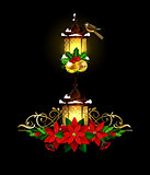 Christmas decoration with street light