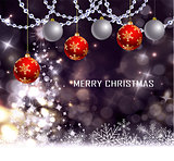 Christmas tree light background