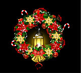 Christmas decoration with street lights