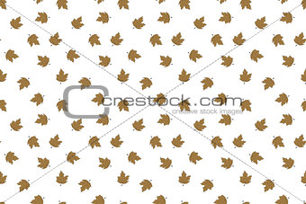 Autumn seamless pattern with falling maple leaves. Hand drawn design.
