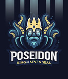 Poseidon greek god of the seven sea