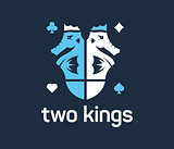 Two seahorse kings vector logo
