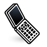 Mobile phone linear icon