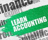 Learn Accounting on White Wall.