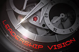 Leadership Vision on Automatic Watch Mechanism. 3D.