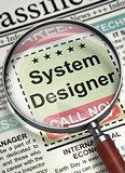 System Designer Hiring Now. 3D.