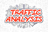 Traffic Analysis - Cartoon Red Word.