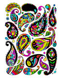 Paisley ornament set, sketch for your design