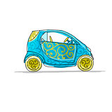 Small cute car, sketch for your design