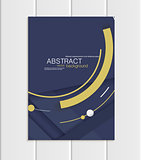 Vector navy brochure A5 or A4 format material design element corporate style