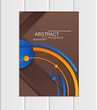 Vector brown brochure A5 or A4 format material design element corporate style