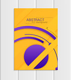 Vector yellow brochure A5 or A4 format material design element corporate style