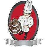 chef con torta