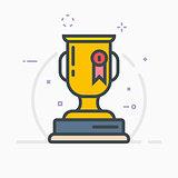 Award trophy illustration