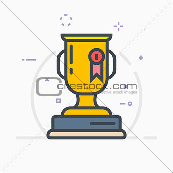 Award trophy illustration