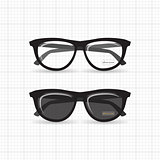Hipster isolated glasses