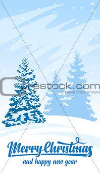 Invitation card Merry Christmas