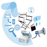 Business development information, illustration