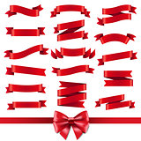 Red Ribbon And Bow Set
