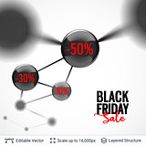 Black Friday sale background design.